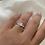 Thumbnail: טבעת כסף זרקון גבוהה