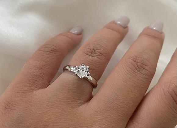 טבעת כסף זרקון גבוהה