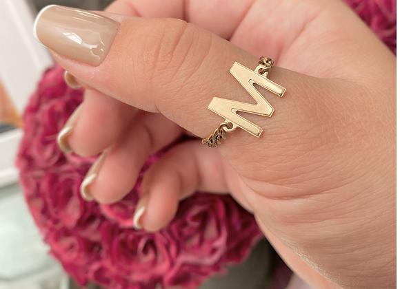 טבעת שרשרת אות