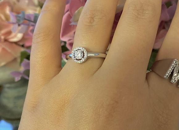 טבעת סוליטר קלאסית פטנט