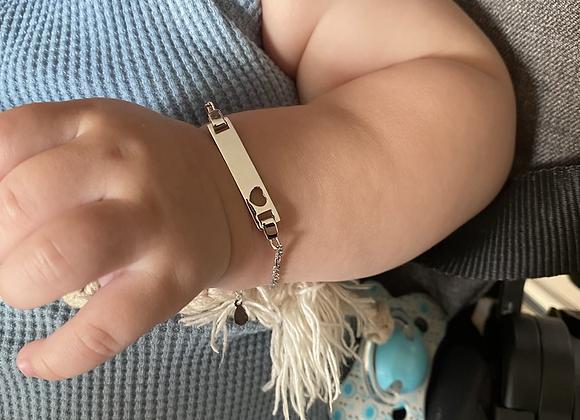 צמיד קלאסי לתינוק לב