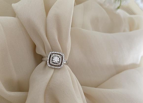 טבעת מרובעת זרקוניה