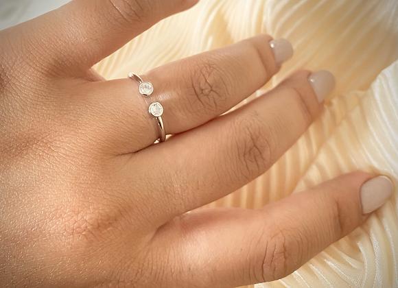 טבעת שני עיגולים פריי