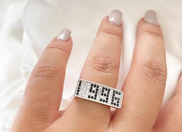 טבעת כסף שנתון