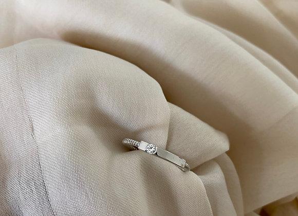 טבעת פס שילוב זרקון שם הילד