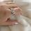 Thumbnail: טבעת שתי אותיות ניו חצי שיבוץ