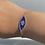 Thumbnail: צמיד כסף אמאייל כחול חמסה
