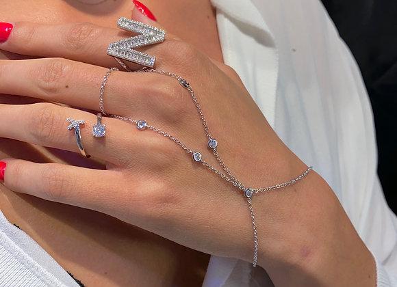 צמיד טבעת זרקונים