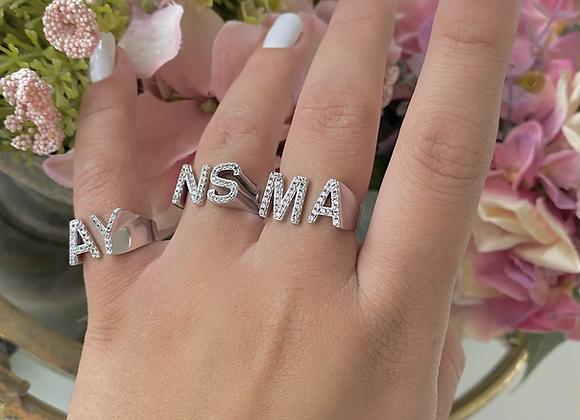 טבעת שתי אותיות ניו