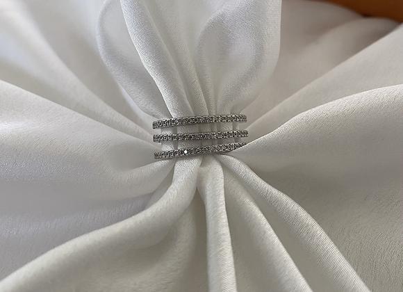 טבעת שלושה פסים מחוברים