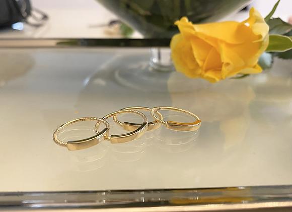 טבעת זהב 14k פס