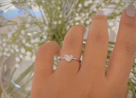 טבעת לב קטנה
