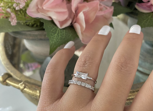 טבעת לייב כפולה מלבן