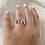 Thumbnail: טבעת שתי אותיות ניו חלק