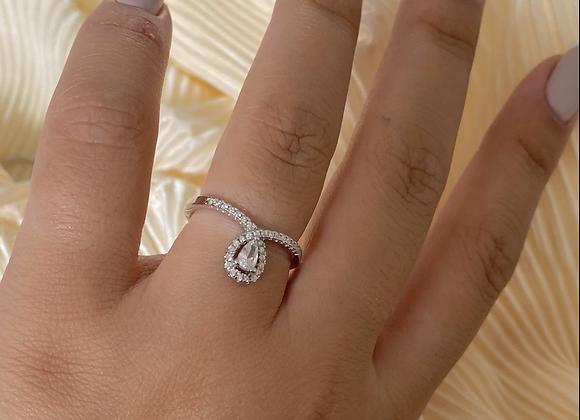 טבעת טיפה נופלת דקה