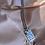 Thumbnail: שרשרת סטיל פלטה מלבנית יברכך