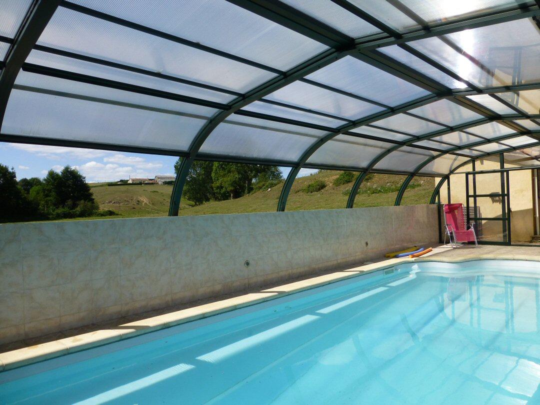 heated covered pool