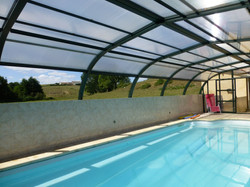 heated covered pool