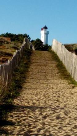the lighthouse, from which the area gets its name