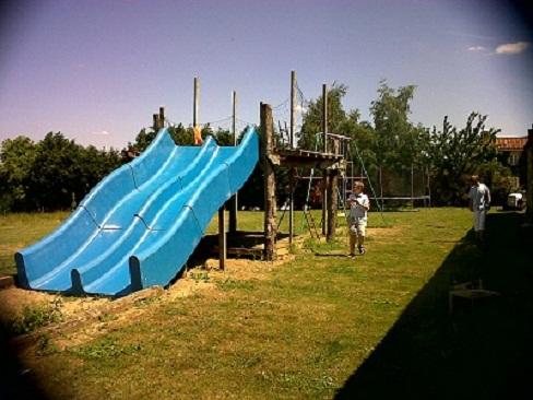 turbo slide, children's play area
