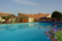 la pressoise pool, gite rental, vouvant, vendee