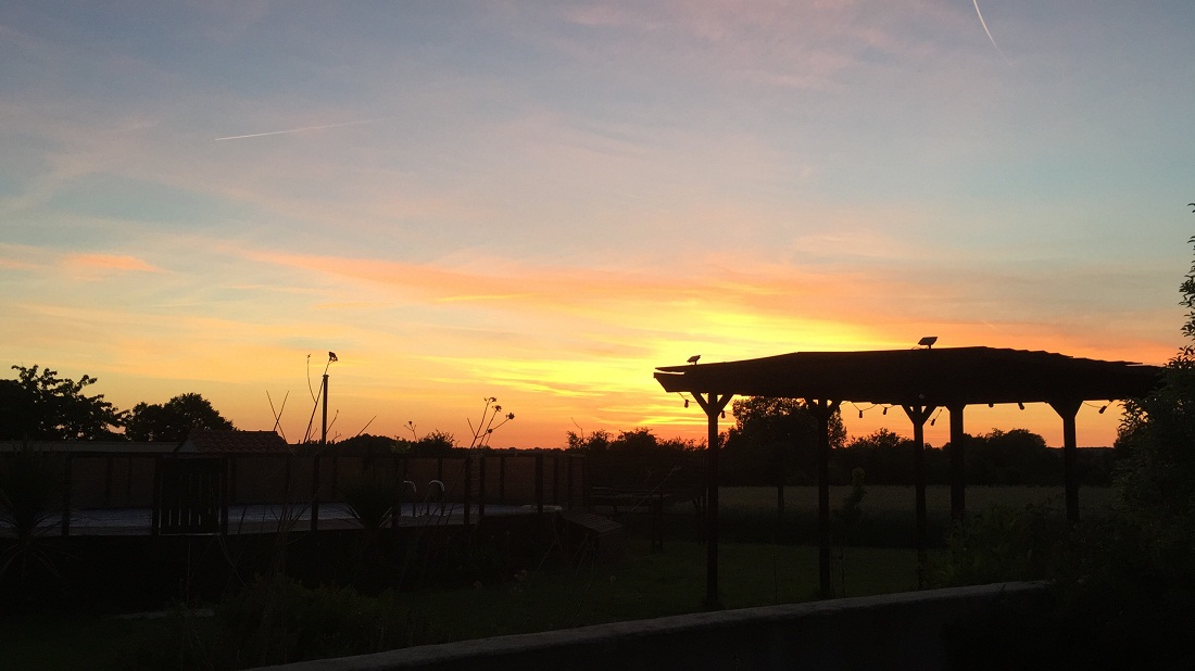 sunset at La Croix Liaud