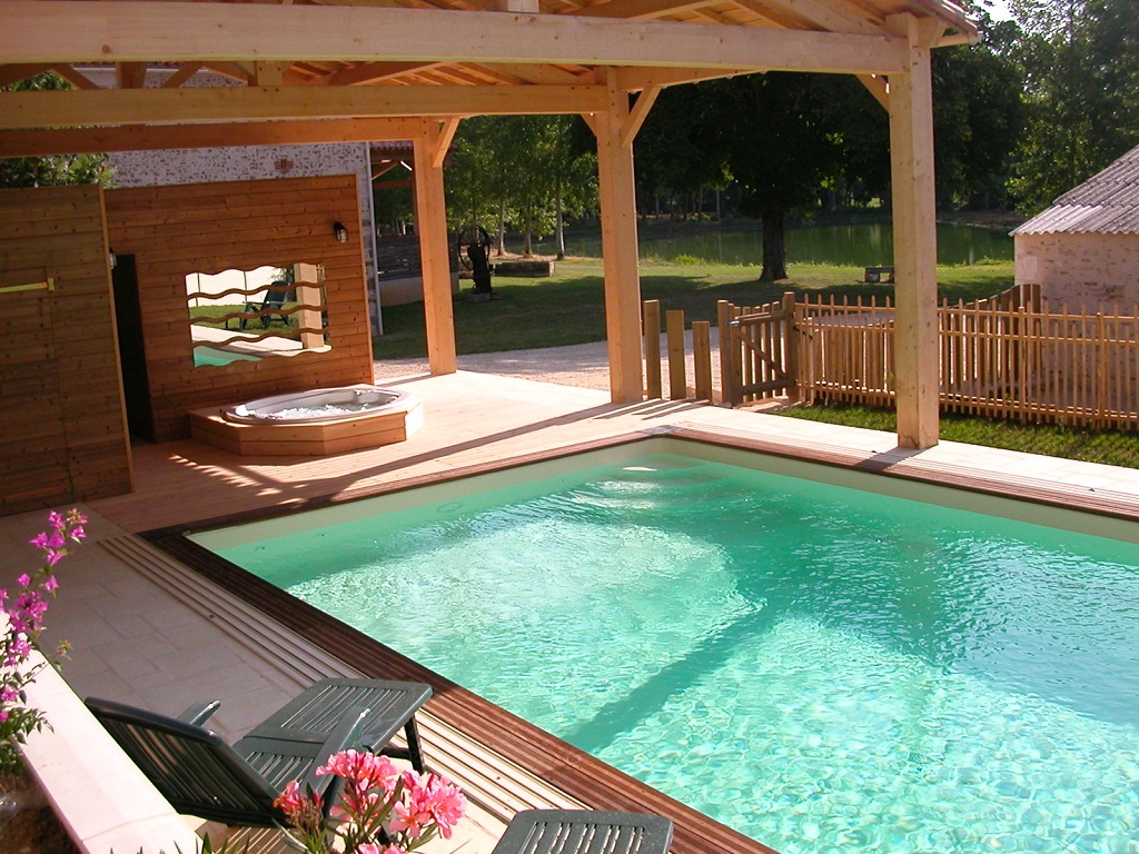 swimming pool, hot tub and carp fishing lake