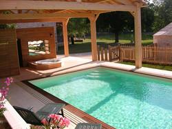 swimming pool, hot tub and carp fishing lake