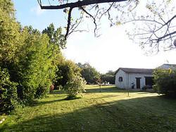 side gardens at farmhouse near Royan