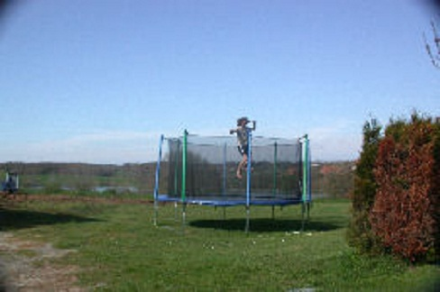 large trampoline at La Grange