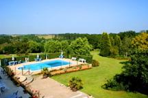 outdoor pool and extensive grounds