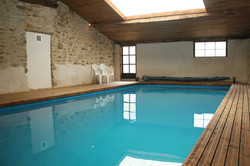 Private, heated indoor swimming pool