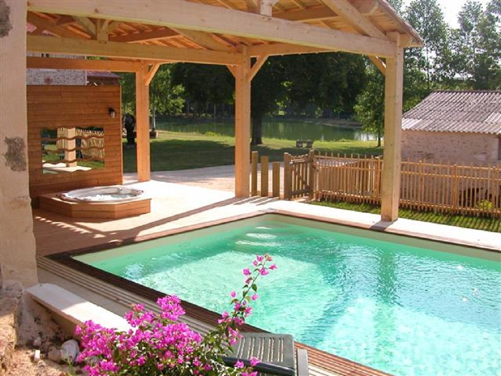 private, heated pool and hot tub