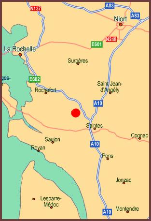 charente-maritime map