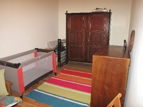 upstairs dressing room and cot