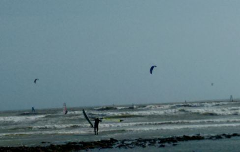 windsurfing or kite surfing, great fun to watch or join in