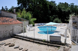 Private heated pool, fenced off