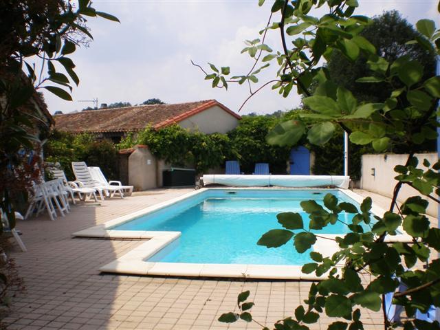 La Pomerie heated swimming pool