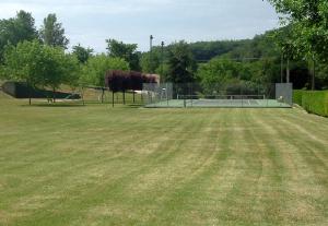 tennis court in village