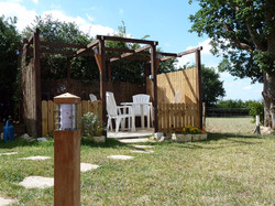 outdoor area at the windmill, france
