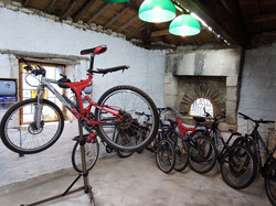 bike workshop and store room