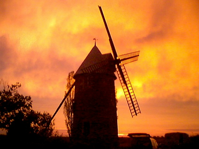 windmill at sunset, Vendee