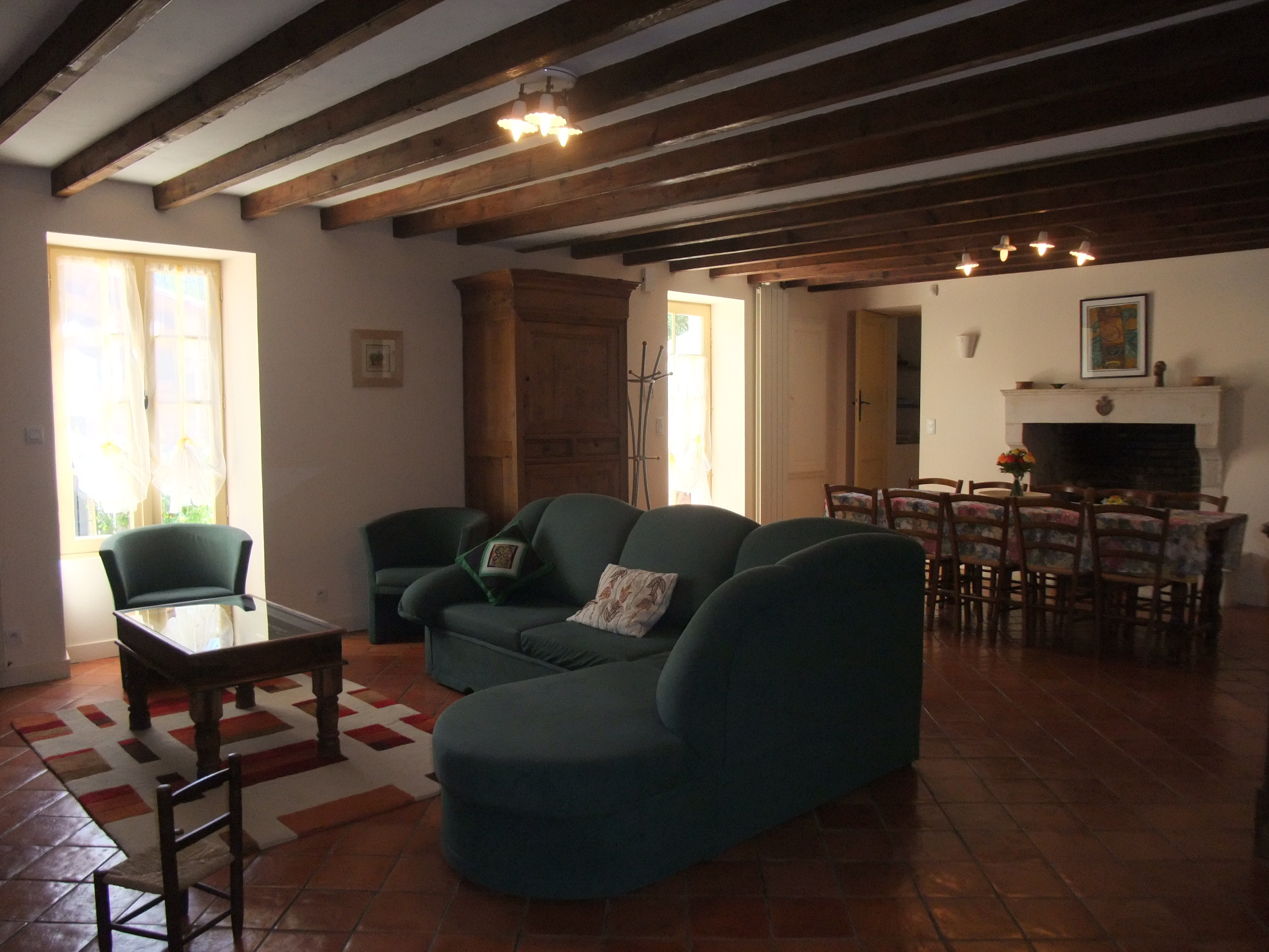 living room at moulin de garreau
