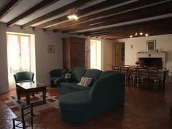living room at moulin de garreau