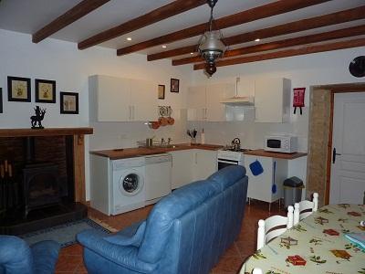 kitchen area at La Croix Liaud