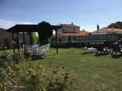 gardens and gazebo area