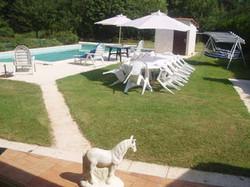 farmhouse pool and gardens