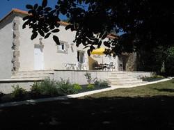 gite exterior and garden