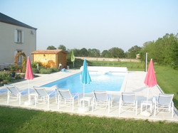 Private, heated swimming pool