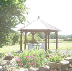 gazebo in gardens